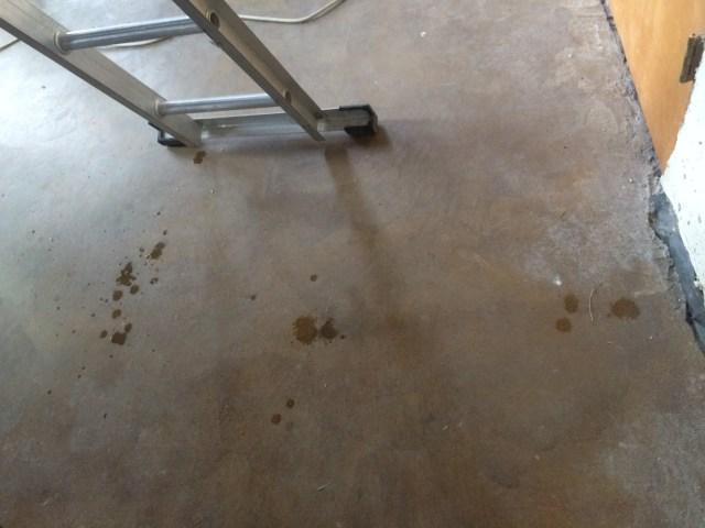 Drips from roof corner leak