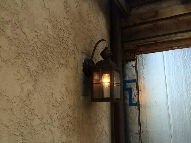 Re-installed porch light