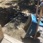 Concrete in wheelbarrow