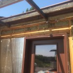 Removed siding and insulated