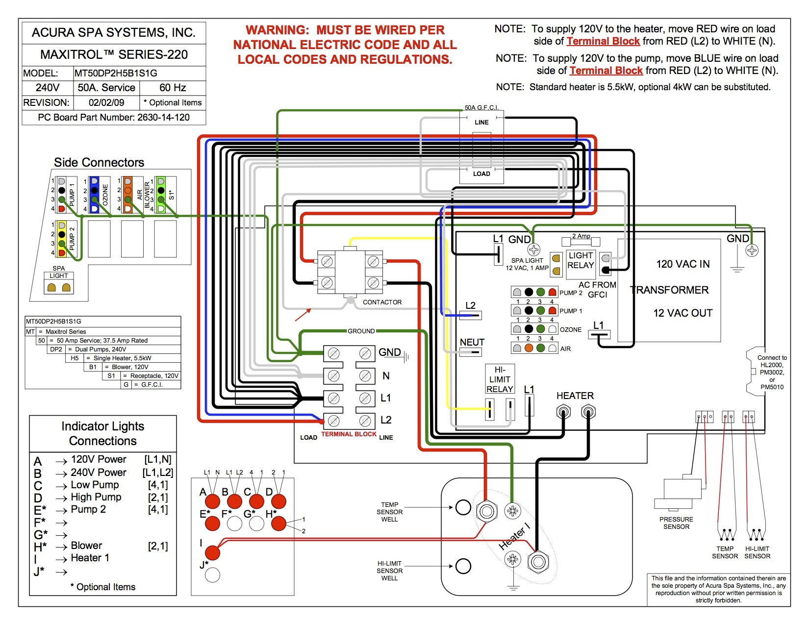 Spa Wiring Diagram Schematic - Wire Management & Wiring Diagram on