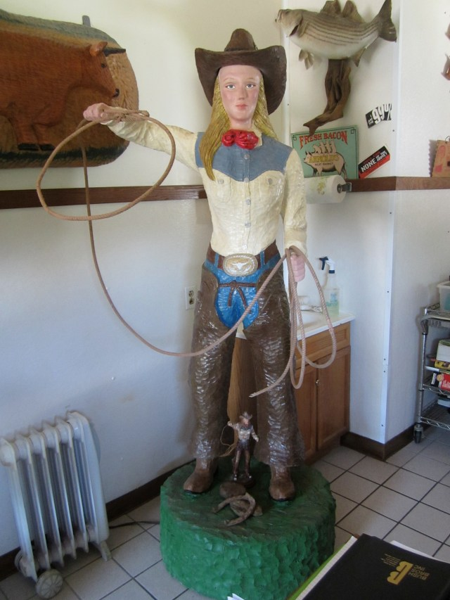 Cow Girl Statue