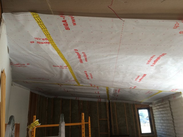 Ceiling Layers Taped