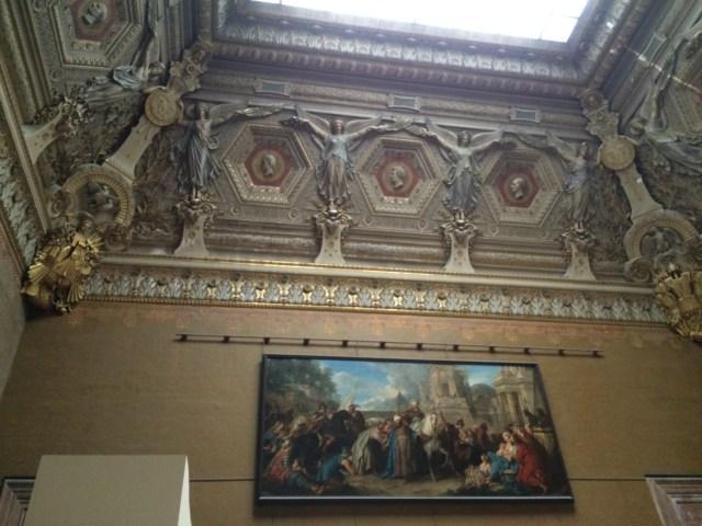 Louvre art upon art