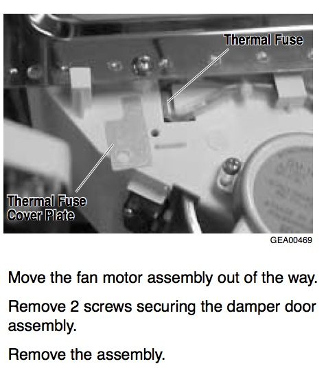 Remove thermal fuse on damper