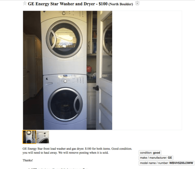 GE Washer and Gas Dryer Ad