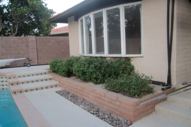 Block House and Planter