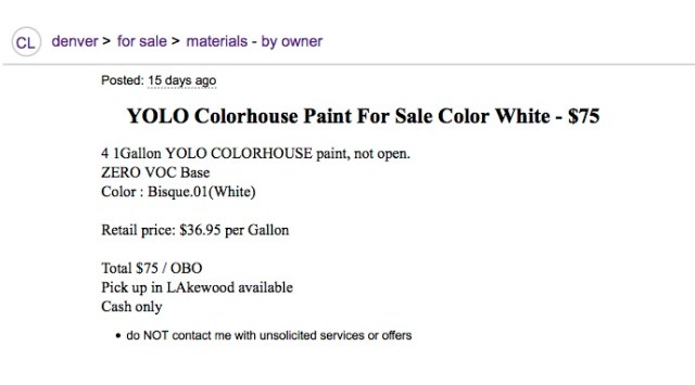 Yolo Paint Ad