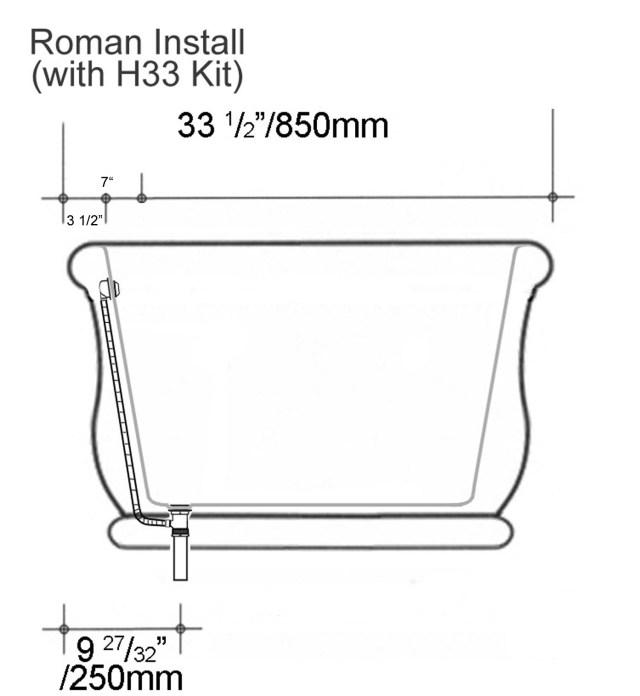 Roman Tub Thru Floor W&O Install