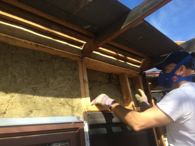 Filling Gap with Roxul Insulation