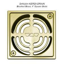 Schlüter Brass Drain Cover