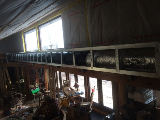Insulated ductwork connected