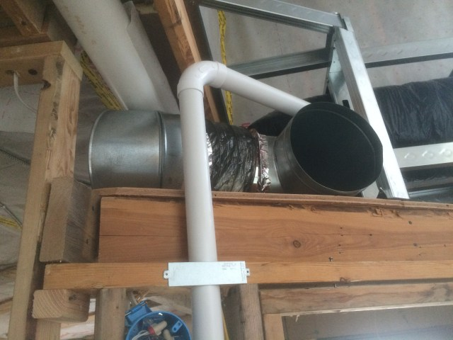 Piping to living area inlet