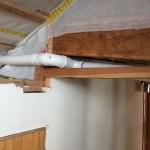 Radon pipe to box in