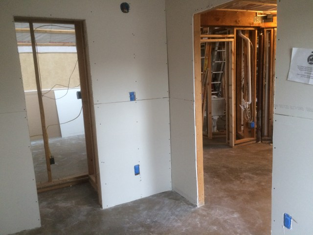 Front Entry Drywall