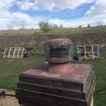 Steel mesh cover on chimney