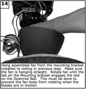 Hang assembled fan