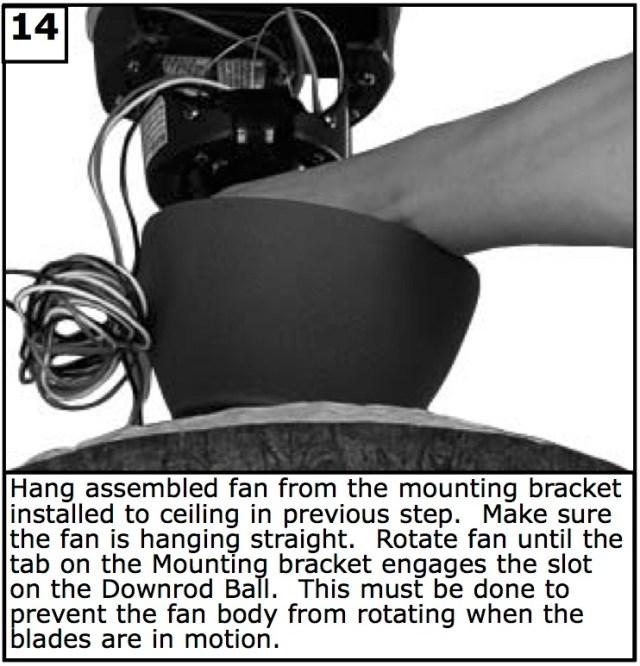 Hang assembled fan
