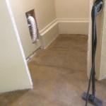 Steaming master bedroom floor
