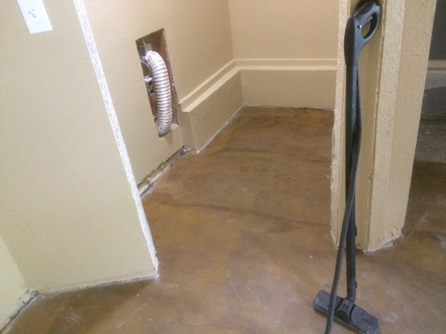 Steaming master bedroom floor
