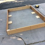 Boards tacked with 2 x 4 corners