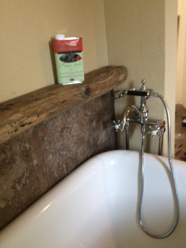 Reinstalled tub faucet