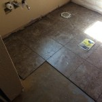 Rows of tile in master bath