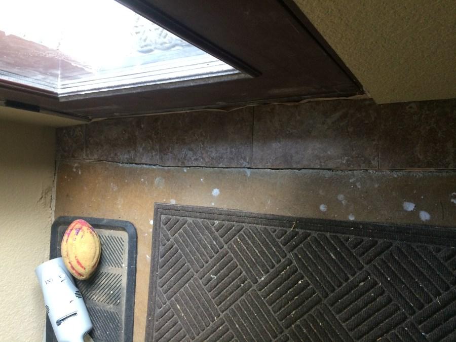 Tile at front door