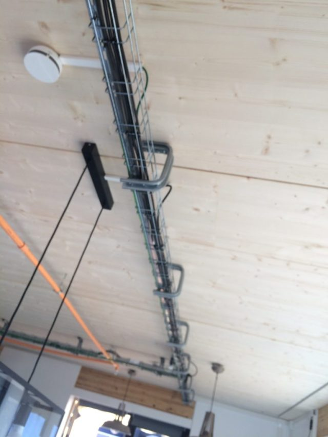 Interior wiring chase
