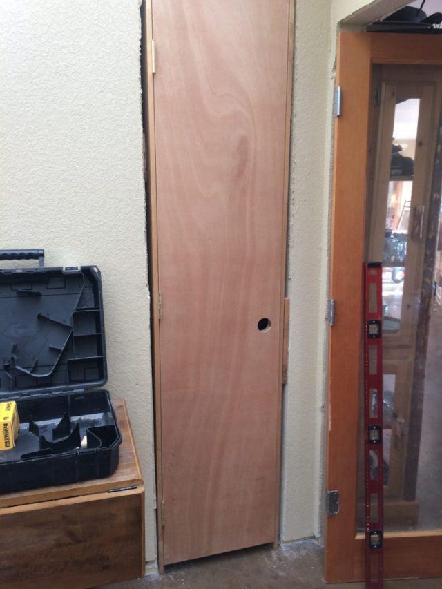 Vacuum closet door