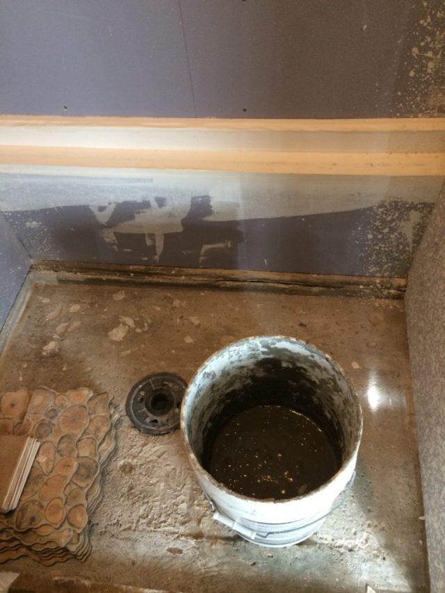 Soupy mortar mix