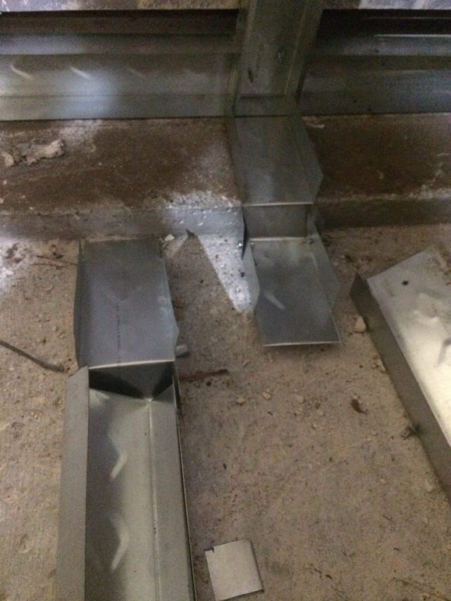 Bending track to fit the floor