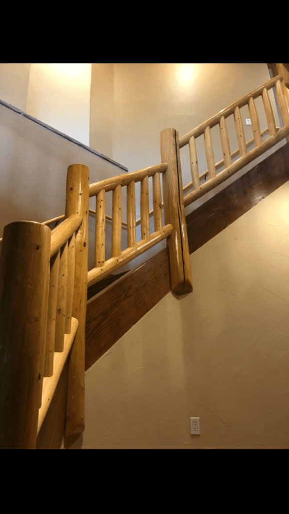 Stair railing sections