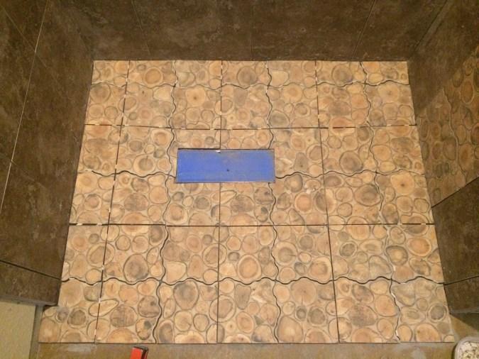 Tile laid