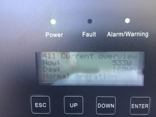 Inverter power status