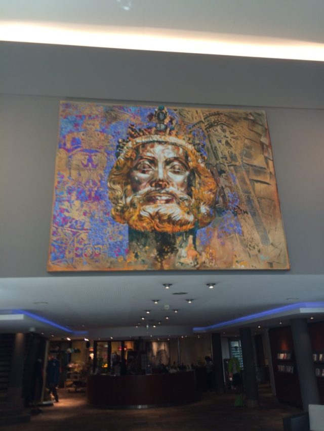Charlemagne art at the thermal baths
