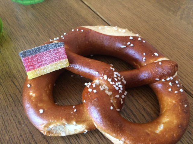German Pretzel and Flag Sour Gummy
