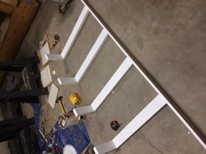 Reused boards with corner filler