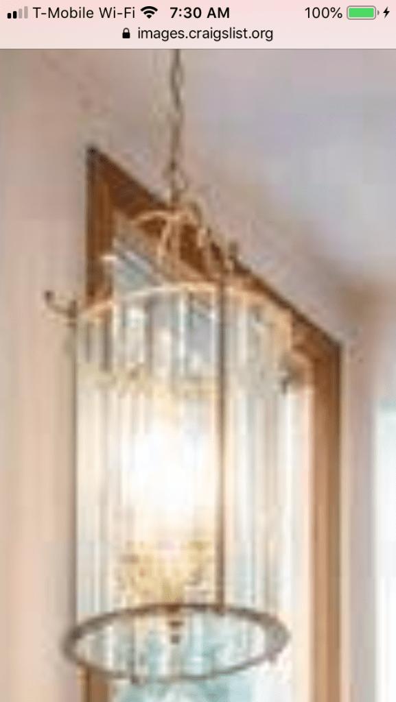 Brass lantern chandelier