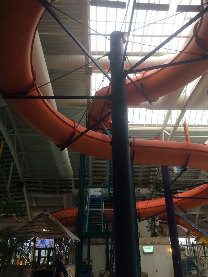 Huge indoor water slide