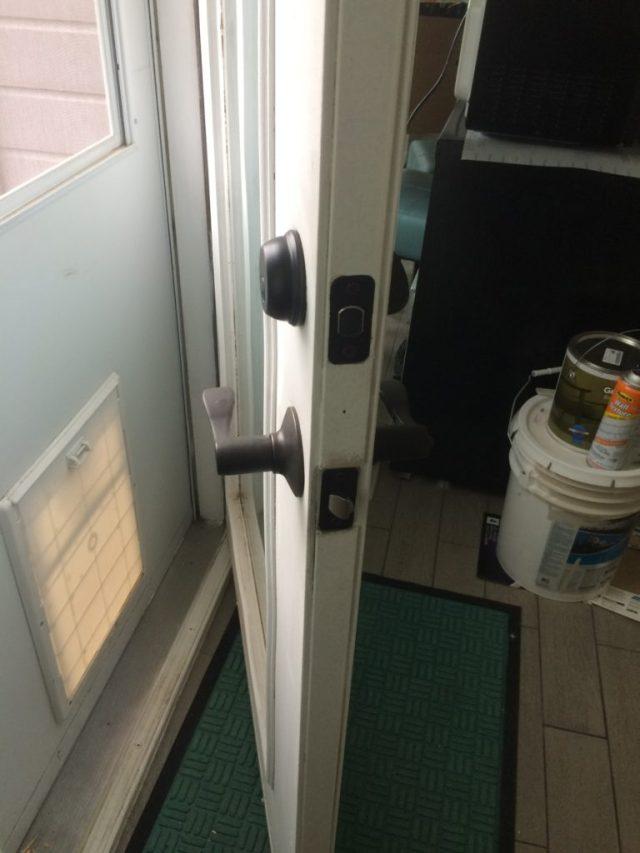 Backdoor deadbolt and keyed lock