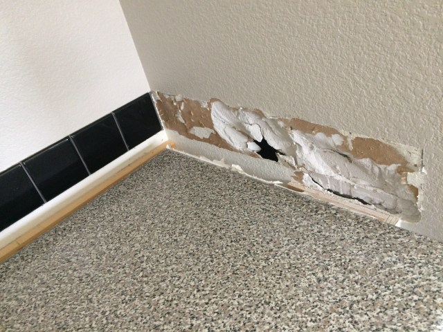 Damaged drywall