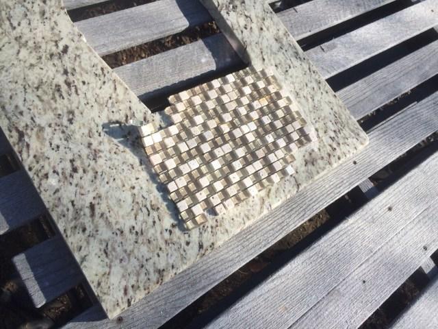 Matching glass tile for backsplash