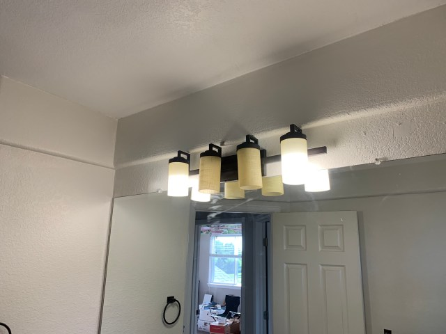 New dark bronze light fixture