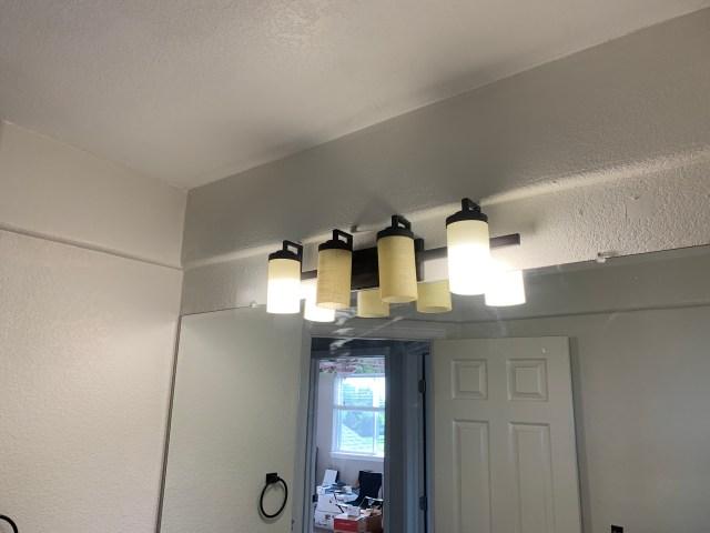 New dark bronze light fixture