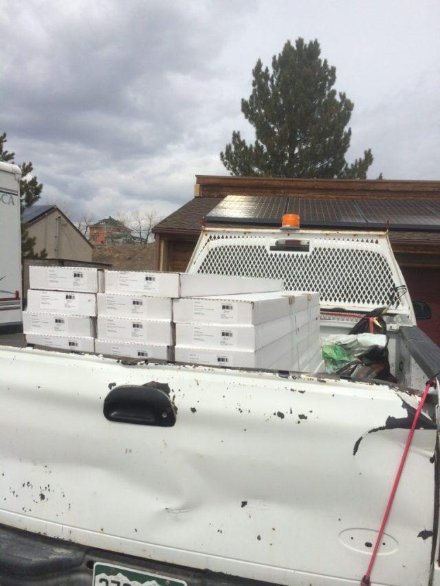 Flooring in truck bed.
