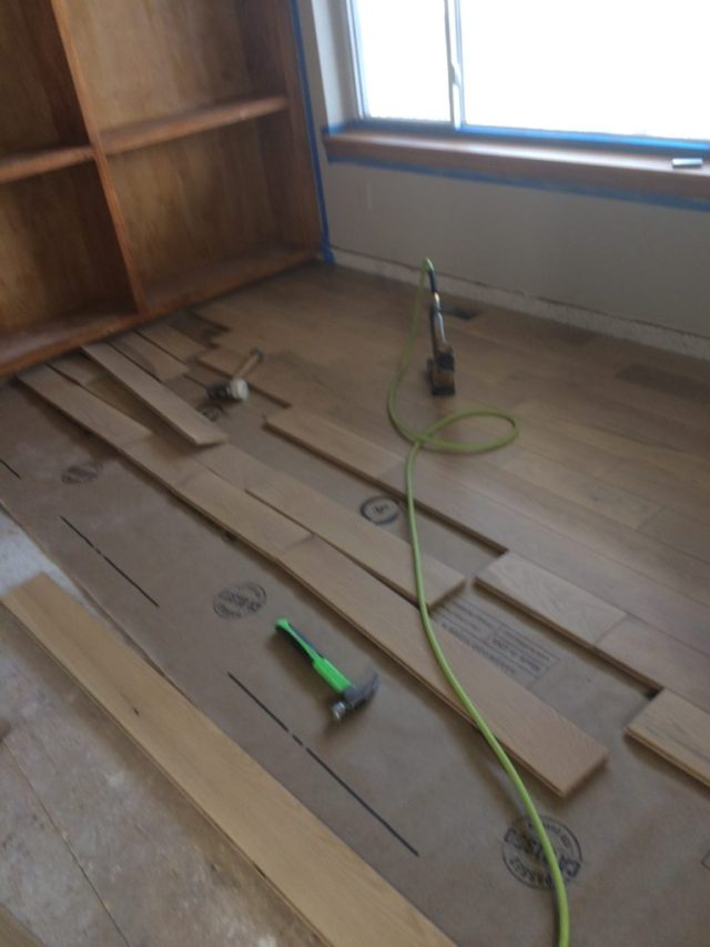 Office floor in progress