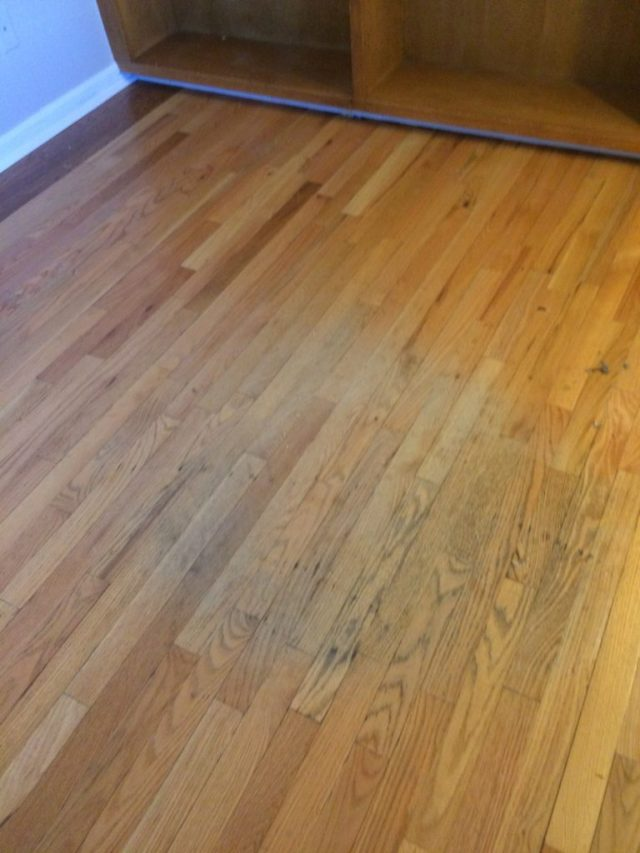 Damaged office floor
