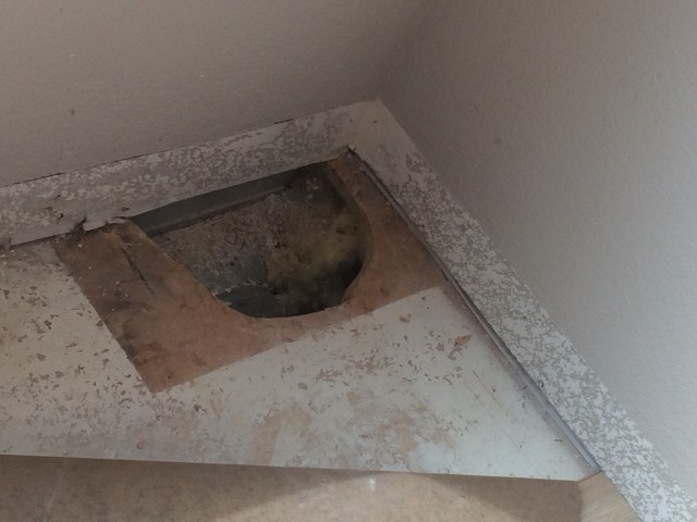 Unexpected hole in subfloor