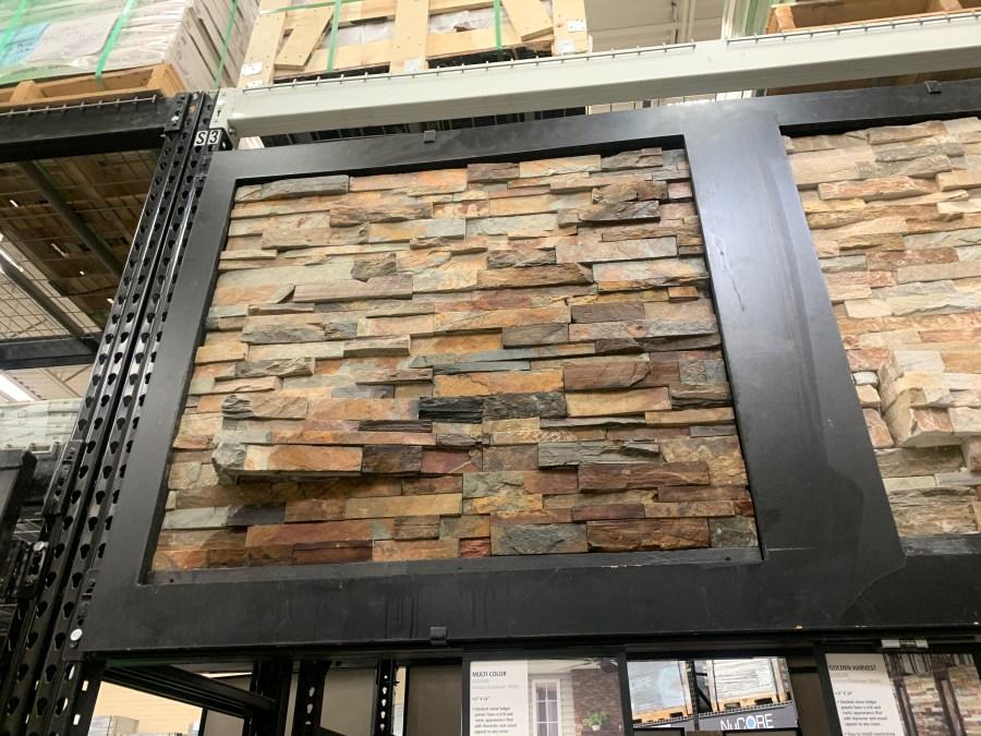 Multi color ledge stone